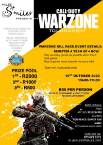 Charity Warzone Event Poster South Africa